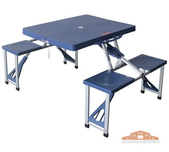 Folding Picnic Table Ātri Saliekamais Galds Ar Krēsliem