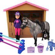 Chad Valley Pony Parade -Stallis zirgiem