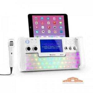 10030798_yy_0001_titel___auna_DiscoFever_LED_Bluetooth_Karaokeanlage_weiss